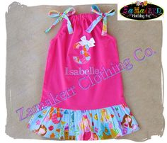 Girl Mermaid Dress  Girl Pillowcase Dress  by ZamakerrClothingCo, $31.99