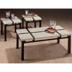 Have to have it. Jofran Black Frost Cocktail Table with 2 End Tables $249.99