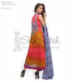 Price: $12 - ST-8872A from Shariq Textile gown-shirt collection is made up of mustard, pink,