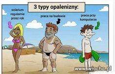 3 typy opalenizny...