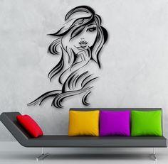 Wall Sticker Vinyl Decal Hot Sexy Girl Hair Beauty Salon Hairdresser (ig1872) in Home & Garden, Home Décor, Decals, Stickers & Vinyl Art | eBay