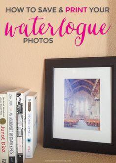 Printing Waterlogue Pictures - freeborboleta