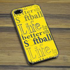 Softball iPhone/Galaxy Case Life is Better with Softball ...