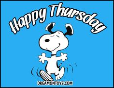 Happy Thursday (with Snoopy)