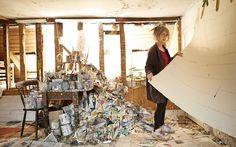 Paint misbehaving: Rose Wylie in her Kent studio