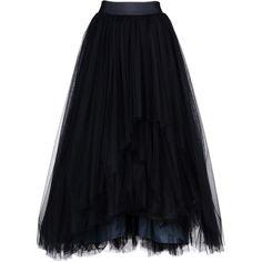 Alberta Ferretti Skirt (4,765 CAD) ❤ liked on Polyvore featuring skirts, bottoms, faldas, saias, dark blue, skirts & pants, alberta ferretti skirts, black zipper skirt, dark blue skirt and zipper skirt