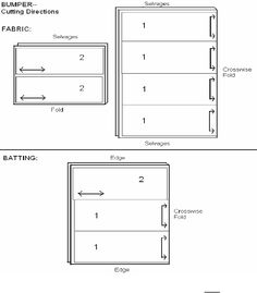 Instructions on how to make a crib bumper.