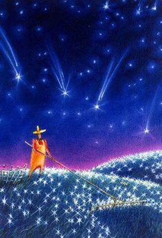 Catador de estrelas: Ele colhe as estrelas do chão! São sonhos abandonados, antes mesmo de serem concretizados.