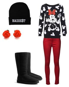 """""""Minnie Mouse"""" by malitrendy19 ❤ liked on Polyvore featuring rag & bone, Miss Selfridge and UGG Australia"""