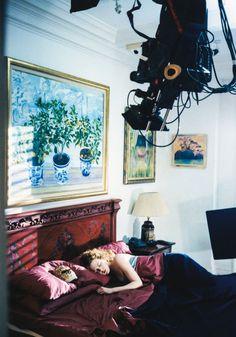 Nicole Kidman on the set of Eyes Wide Shut