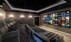 Home Theater Room Design, Movie Theater Rooms, Home Cinema Room, Home Theater Decor, Home Theater Seating, Movie Rooms, Theatre Rooms, Tv Rooms, Game Rooms