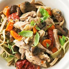 Herbed Chicken and Mushrooms. 306 cals, 29g carbs per serving                                      Diabetic Living Online