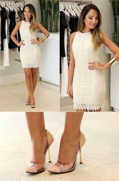 Resultado de imagem para roupa para casamento civil Civil Wedding Dresses, Grad Dresses, Event Dresses, Bridal Dresses, Nice Dresses, Casual Chic, Casual Wear, Best Evening Dresses, Girl Outfits