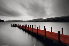 Wooden Landing Jetty-Red Posters - AllPosters.ca