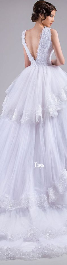♔LAYA♔CHRYSTELLE ATALLAH S/S 2015 BRIDAL♔ #coupon code nicesup123 gets 25% off at  Provestra.com Skinception.com