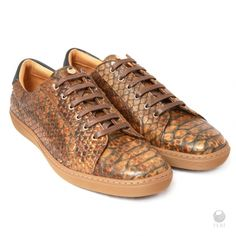 Global Wealth Trade Corporation - FERI Designer Lines Brown Sneakers, Casual Sneakers, Leather Sneakers, Microsoft, Fashion Brand, Mens Fashion, Luxury Fashion, Selling On Pinterest, How To Look Classy
