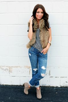 I'm gonna need a faux fur vest this fall