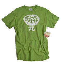 Pi tshirt math geometry 3.14 screenprint pie funny by UnicornTees, $14.99