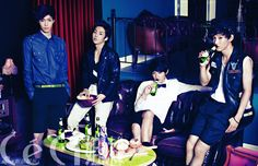Lay, Xiumin, Tao, and Chen from EXO-M for Ceci Magazine