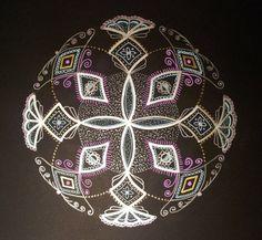 Original Mandala Shining on Black Signed by by ZaharaMandala, $15.00