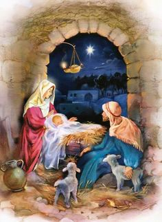 Count down the days until Christmas day with this lovely Manger advent calendar! Christmas Nativity Scene, Christmas Scenes, Christmas Love, Christmas Pictures, Christmas Greetings, Merry Christmas, Christmas Jesus, Xmas, Meaning Of Christmas