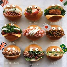Ayaさん(@aya_m08)のInstagramアカウント: 「ロールパンサンド ・ ・ フレーッフレーッ‼️ ・ ・ ってことで、運動会、無事に終了しました😊👍 ・ ・ お弁当作りという役目も果たし、一日中日差しを浴びてぐったりしています(笑) ・ ・…」 Cute Food, Good Food, Yummy Food, Japanese Sweets, Japanese Food, Pureed Food Recipes, Baby Food Recipes, Kawaii Cooking, Le Diner