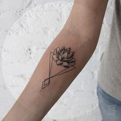 Triangle lotus tattoo more geometric tattoo lotus, sternum tattoo lotus Sternum Tattoo, Lotusblume Tattoo, Inner Forearm Tattoo, Lotus Tattoo, Tattoo Linework, Wrist Tattoo, Tiny Tattoo, Shape Tattoo, Mandala Tattoo