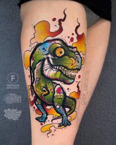 Tyrannosaurus Rex Tattoo by vika_kiwitattoo