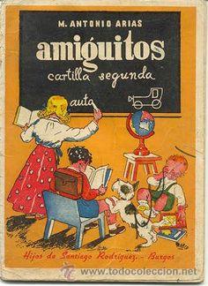 AMIGUITOS - CARTILLA SEGUNDA - HIJOS DE SANTIAGO RODRIGUEZ - BURGOS (Libros de Lance - Libros de Texto )