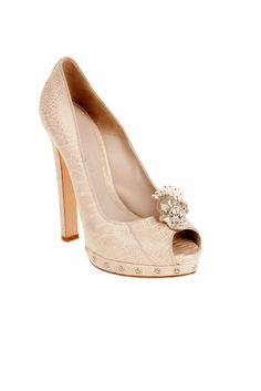 fall 2012, Alexander McQueen, shoes, high heels, pumps, beige