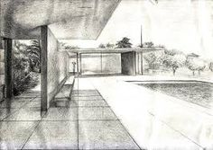 Image result for mies van der rohe architecture sketches