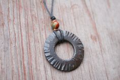 Iron jewelry, Forged Iron Necklace, blacksmithed necklace, Up cycled Jewelry