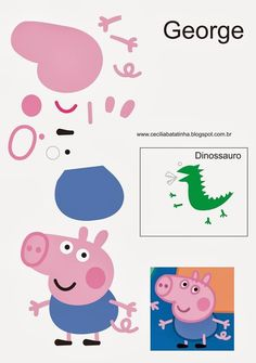 : Upon request - Moulds Peppa Pig and the gang Tarta George Pig, George Pig Cake, Peppa E George, George Pig Party, Molde Peppa Pig, Bolo Da Peppa Pig, Cumple Peppa Pig, Peppa Pig Birthday Cake, Birthday Bash