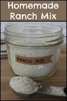 Homemade Ranch Mix -- straight forward spices, no funky ingredients (as long as you leave out the Accent/msg)