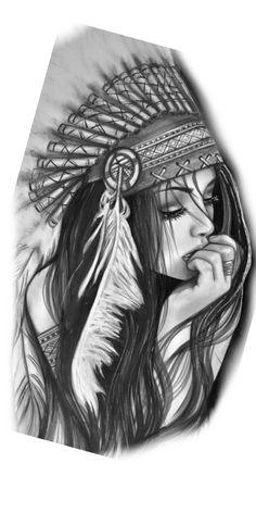 Indian Women Tattoo, Indian Girl Tattoos, Indian Tattoo Design, Clock Tattoo Design, Tattoo Design Drawings, Tattoo Sleeve Designs, Sleeve Tattoos, Leg Tattoos Women, Girl Arm Tattoos