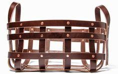 Smarter Alec: Leather & Copper Strap Basket
