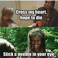 The walking dead michonne needle ;)