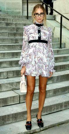 La styliste Chiara Ferragni chezGiambattista Valli.