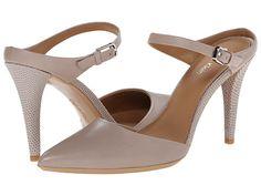 Calvin Klein Calvin Klein  Ginnie Greige Cow Silk High Heels for 70.99 at Im in! #sale #fashion #I'mIn
