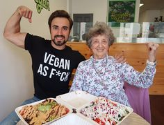 """1,280 Likes, 52 Comments - J.D. Goldschmidt (@tofu_fit_guy) on Instagram: """"When you're #veganaf you take your 81 year old Grandmom out to an awesome vegan lunch…"""""""