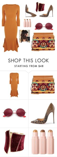 """""""*Yellow dress"""" by women-miki ❤ liked on Polyvore featuring Chloé, Ray-Ban, GUESS by Marciano, modern, love, red and greate"""
