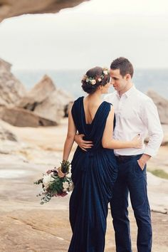 Romantic Clifftop Engagement Session | Pictures and Hearts Photography on @polkadotbride via @aislesociety