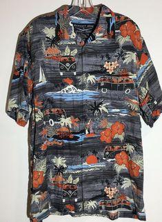 fd6312d66 Details about Newport Blue Island Brand, Men's size M, Hawaiian Bowling  Shirt, Very Cool