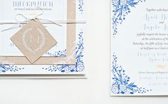 Oh So Beautiful Paper: April + Angelo's Floral and Kraft Wedding Invitations