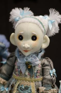 Exhibition in Moscow, dolls and figurines