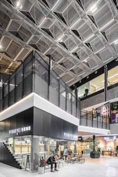 Commercial Interior Design, Commercial Interiors, Ningbo, Atrium, Ceiling Design, Skylight, Shopping Mall, Interior Architecture, Building