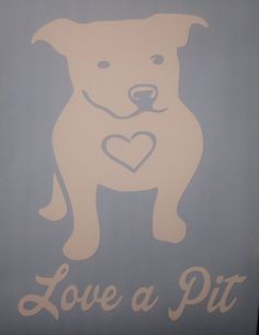 Love A Pit , Pit Bull  Rescue And Support decal, Pit, Bulldog