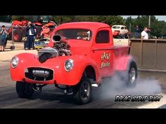 2015 Hunnert Car Heads Up Drags Harry Hauler Willys Gassers Hot Rods Nostalgia Drag Racing Videos - YouTube