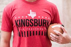 KLIFF KINGSBURY FOR PRESIDENT - Perfect gameday Tshirt for all you Texas Tech Red Raiders! Oliver & Otis