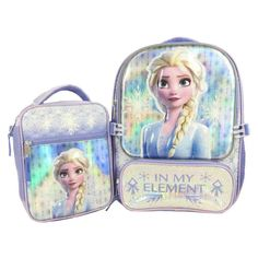 Frozen 2 Licensed Backpack with Lunch Bag, Light Purple Elmo Birthday, Boy Birthday Parties, Arabian Party, Frozen Merchandise, Frozen Sisters, Princess Toys, Apple Watch Accessories, Kids Bedroom Furniture, Snowflake Pattern